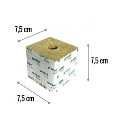 Cubo di Lana di Roccia 7,5x7,5 Foro 38mm