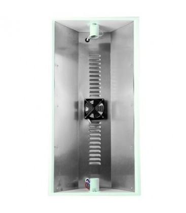 Riflettore per 2 lampade CFL + ventola